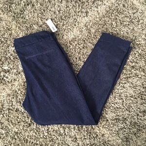 Old Navy 6 Blue Pixie Mid-Rise Ankle Length Pants